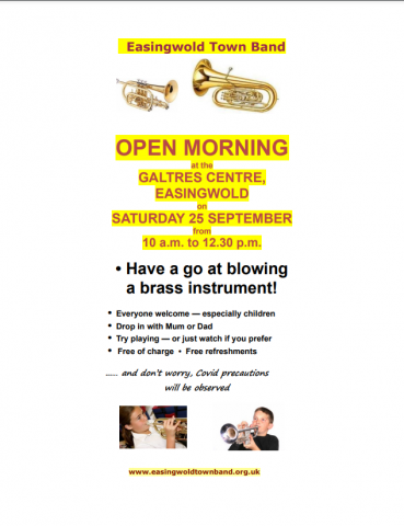 Easingwold Town Band Opening Morning Poster